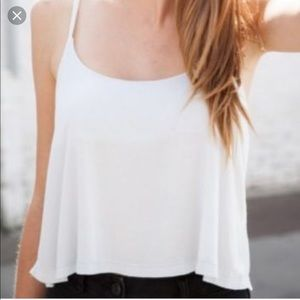Brandy Melville white Arika crop tank top Small